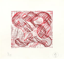 Richard Deacon: 1+1=10 Red/Dark Red (2013)