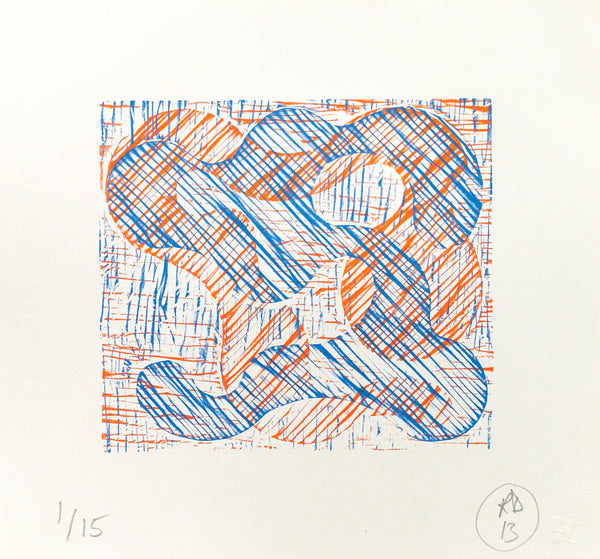 Richard Deacon: 1+1=10 Orange/Blue (2013)