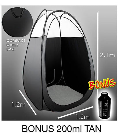 ROX TAN - TANNING TENT - BLACK - Free 250 ml sample