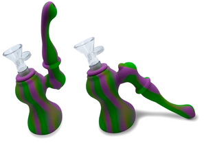 2 Part Silicone Sherlock Bubbler **Turns into Ash Catcher!!**