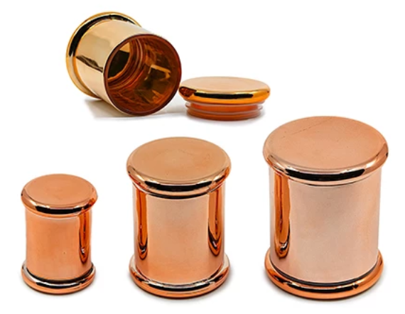 Airtight Glass Jar Rose Gold