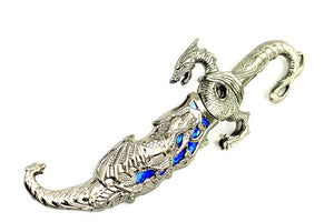"10"" Collectible Fantasy Blue Dragon Dagger"