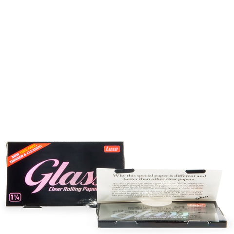 Glass 1 1/4 Clear Rolling Papers