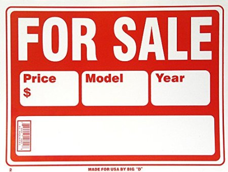 "12"" x 9"" Assorted Plastic Signs"