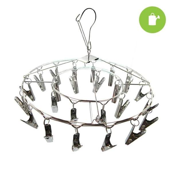 24 Clip Hanging Metal Drying Rack