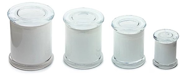 Airtight Glass Jar White Out