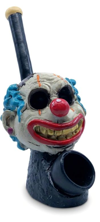 Resin Pipe Decapitated Clown
