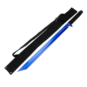 "26"" Blue Ninja Sword Stainless Steel with Sheath"