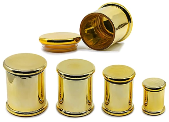 Airtight Glass Jar Gold