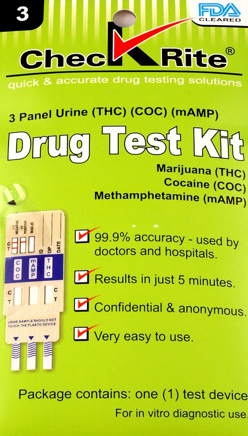 Drug Test Kit (3 Panel)