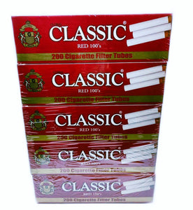 Global Classic Filter Tubes (5 Sleeves of 200ct)