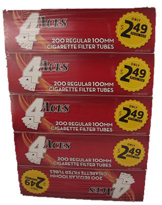 4ACES Regular 100mm (5 Sleeves of 200ct)