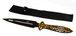 "9"" Throwing Knife with Camo Handle & Sheath"