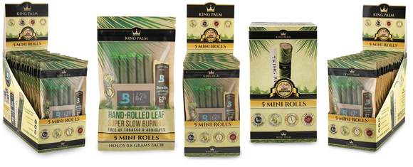 King Palm Super Slow Burning Wraps - Mini 5 Packs - (15ct)