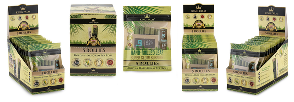King Palm Super Slow Burning Wraps - 5 Rollies - (15ct)