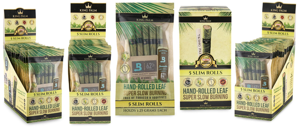 King Palm Super Slow Burning Wraps - 5 Slim - (15ct)
