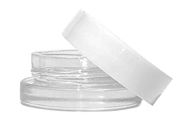 7ml Glass Jars White Lids