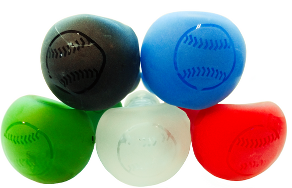 Baseball Frosted Glass Hand Pipe