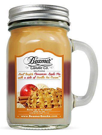 Beamer Candle Co. Candle Aunt Suzie's Cinnamon Apple Pie with a side of Vanilla Ice Cream Scented Jar candle
