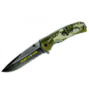 "8.5"" Hunt-Down Camouflage Folding Spring Assisted Knife with Belt Clip"