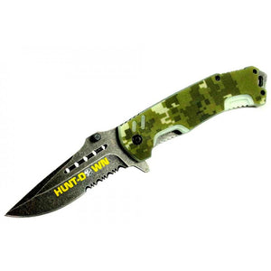 "8"" Hunt-Down Camouflage Folding Spring Assisted Knife with Belt Clip"