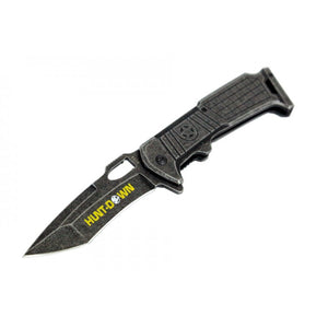 "8.5"" Hunt-Down Spring Assisted Stone Wash Blade with Clip"