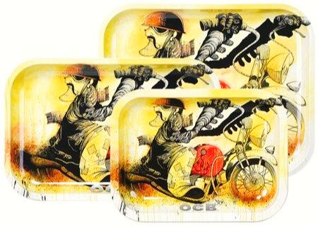 OCB Rolling Tray - Slow-Burn Motorcycle (Medium) ~Buy 1 Get 1 Free, Can Mix & Match~