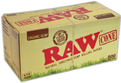 Raw Cone Organic 1-1/4 size (900 pack)