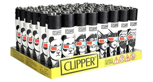 Clipper Lighter Animals 3-D (48ct)