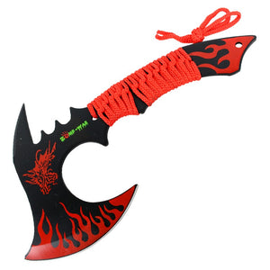 "Zomb-War 11"" Red Dragon Axe Outdoor Hunting Camping Survival Steel Axe"