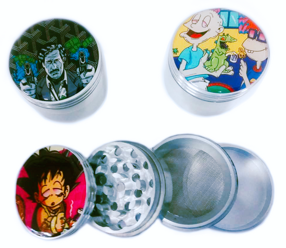Aluminum Grinder w/ Sticker Decal 55mm