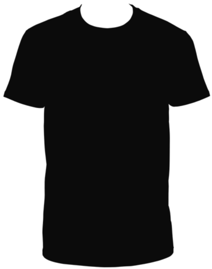 Black Round Neck Tee Shirt