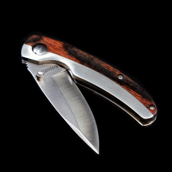 Stainless Steel Wood Handle Combo Knife