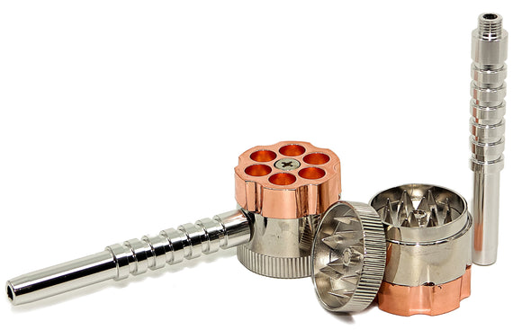 6-Shooter Pipe w/ Attached Grinder (30mm)