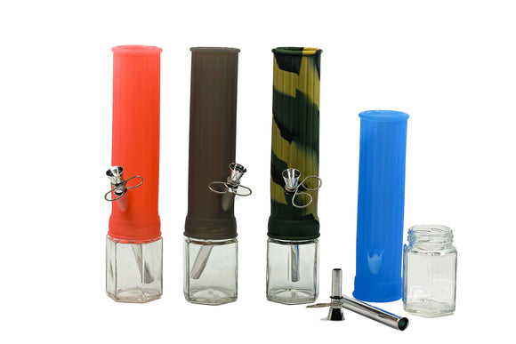 Silicone Glass Hybrid Waterpipe