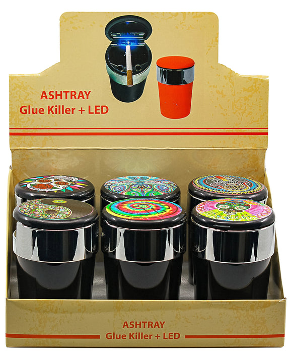 Car Ashtray Led Light and Retro Design