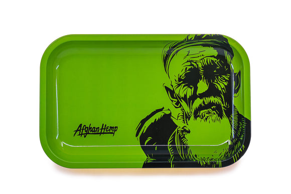 Afghan Hemp Metal Rolling Tray