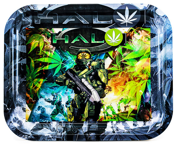 Designed Metal Rolling Tray (Large)