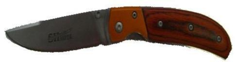 Smooth Wood Hand Knife w/ Burnt Orange Accent