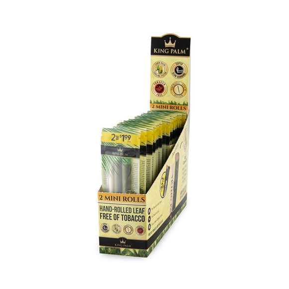 King Palm Super Slow Burning Wraps - 2 Mini Rolls - (20ct) Pre Priced @ $1.99