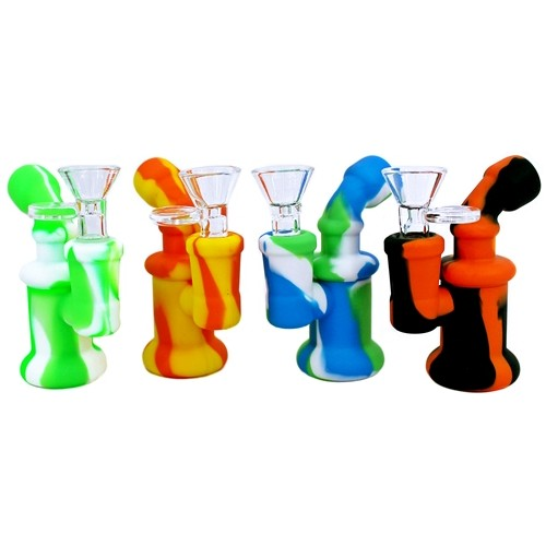 Mini Silicone Water Pipe With Glass Bowl