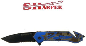 Camo Navy Handle Knife