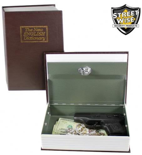Street Wise Book Safe w/ key Lock
