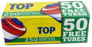 Top Tubes 250 Menthol (5 Sleeves of 200ct)
