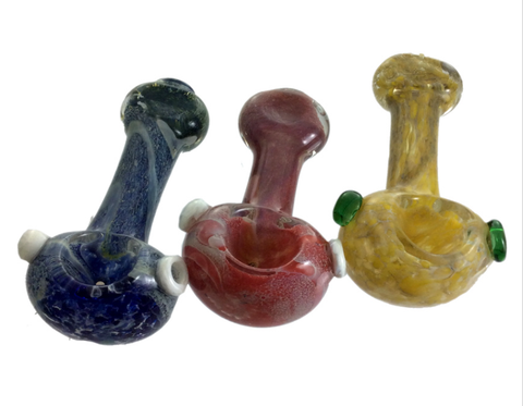 "3"" Fuming Flat Mouth Glass Hand Pipe"