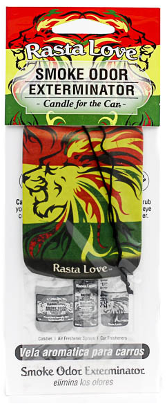 Candle for the Car Air Freshener - Rasta Love