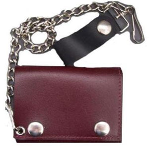 Red Leather Wallet **DOES NOT COME WITH CHAIN**