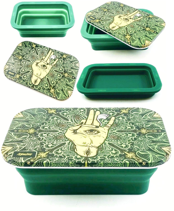 Afghan Hemp Spring Silicone Tray - Green Hand