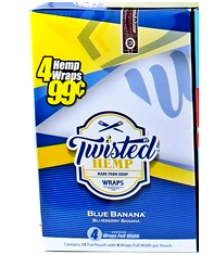 Twisted Blunt Wraps - Blue Banana