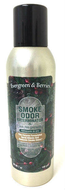 Smoke Odor Exterminator & Air Freshener Spray Evergreen & Berries